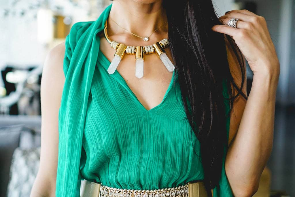 GREEN GRECIAN DRESS