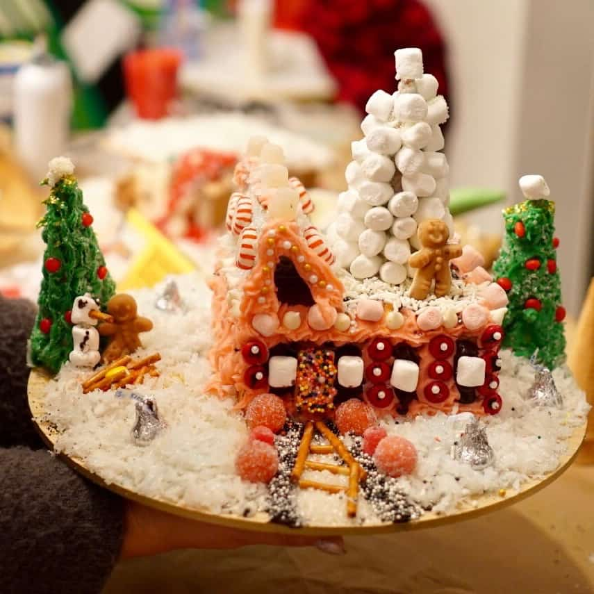A GINGERBREAD HOUSE PARTY